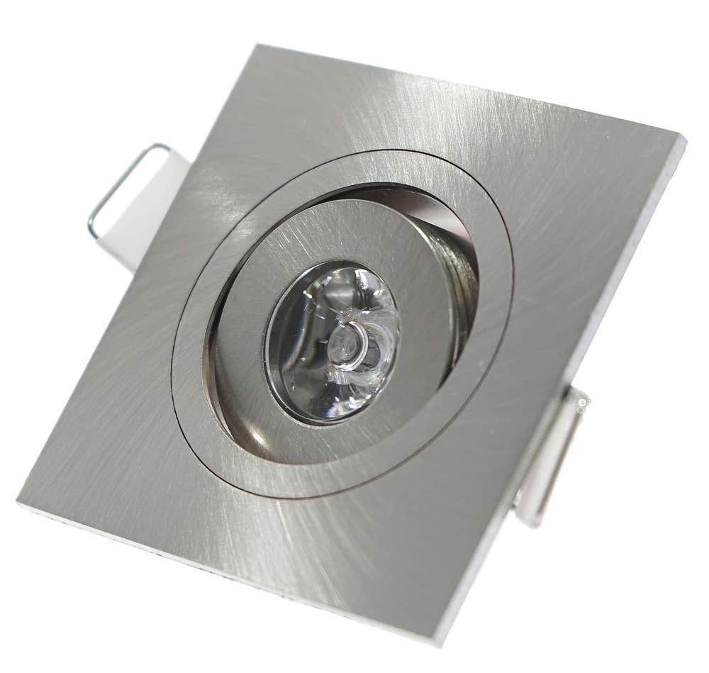 230v Mini Led Lichtpunkt Ip20 Decken Einbaustrahler Rund Eckig 3w