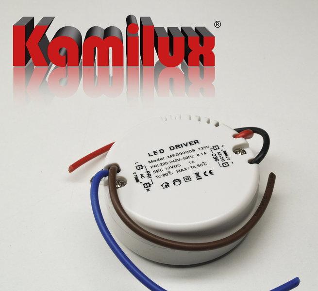 rund LED Trafo 12 Watt Rundtrafo für Schalterdosen