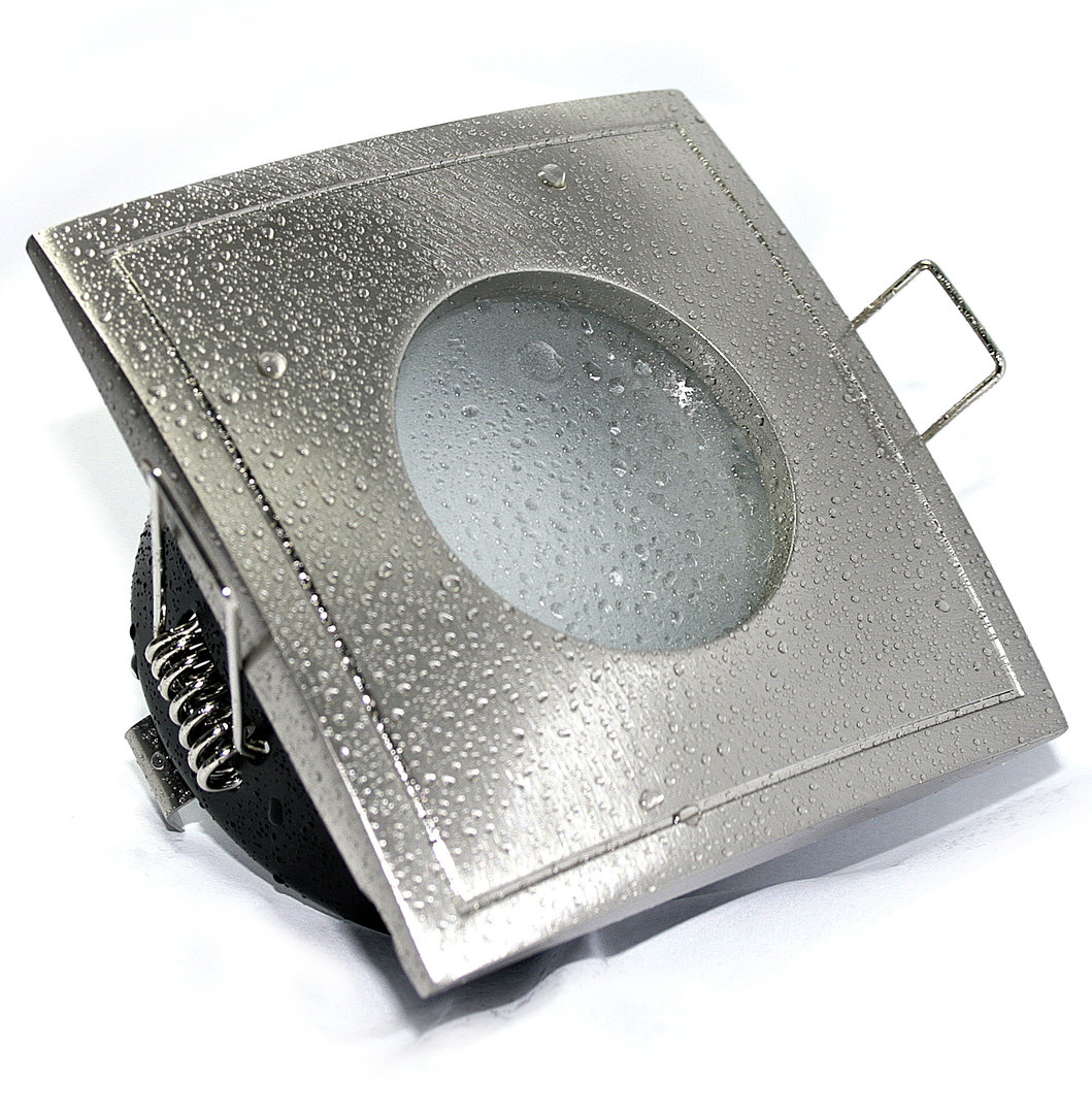 Feuchtraum Badezimmer Downlights Einbaustrahler AQUA SQUARE IP20 20V GU20    Kamilux GmbH